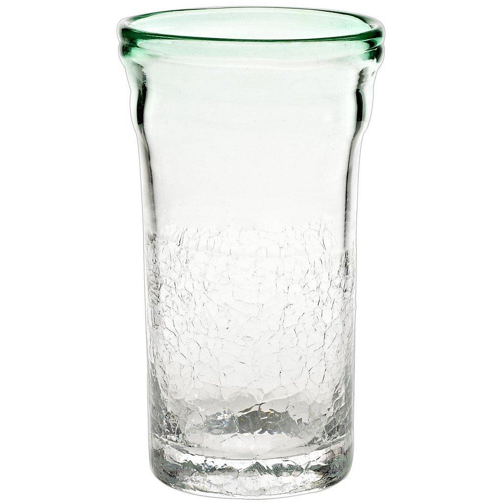 Longdrink, modern style ''Pavel'', 14 cm (5.52 in), green, modern style, glass (ARTGLASS powered by CRISTALICA)
