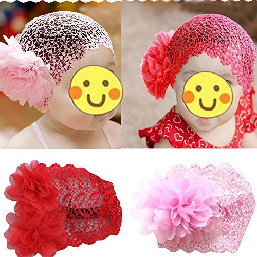 Toddlers Baby Girls Crochet Flower Princess Headband Lace Hairdress - New List Ban