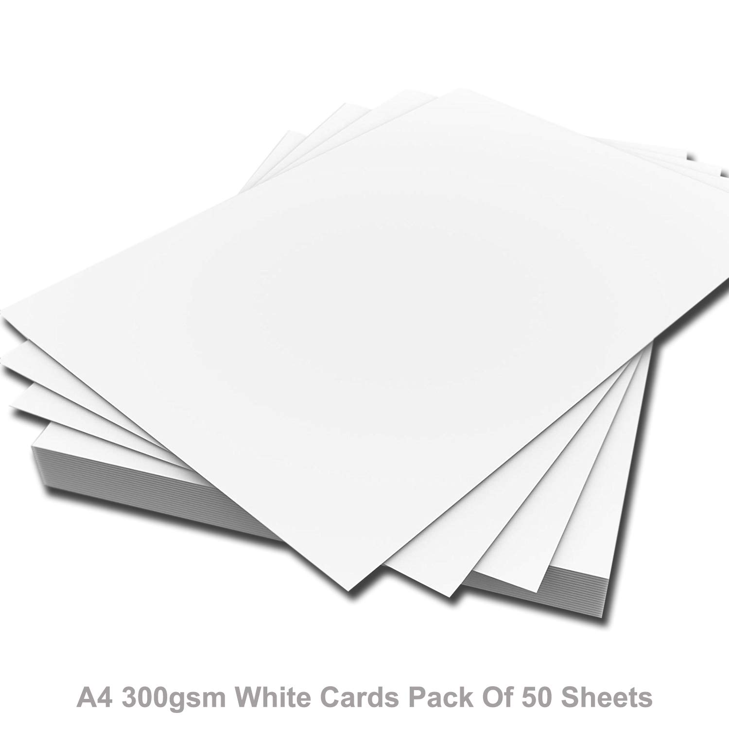 ARK A4 Premium Thick White Printer Craft Card 300gsm (Pack of 50 Sheets)