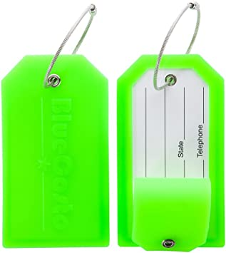 Round Luggage Tags Futuristic Connection PU Leather Suitcase Labels Bag