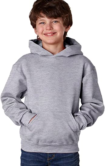 Jerzees Youth 8 oz. ATHLETIC HEATHER 996Y 50//50 NuBlend Fleece Pullover Hood