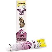 GimCat Malt-Soft Extra, pasta con malta- Anti-Hairball snack para gatos favorece la excreción de bolas de pelo (1 x 100…