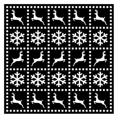 Creative Expressions That Special Touch Festive Christmas Mask Art Stencil 6