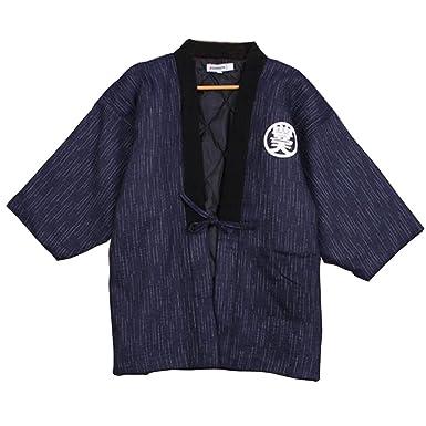 Batas de Estilo japonés para Hombres Kimono Pijamas de Abrigo B: Amazon.es: Ropa y accesorios