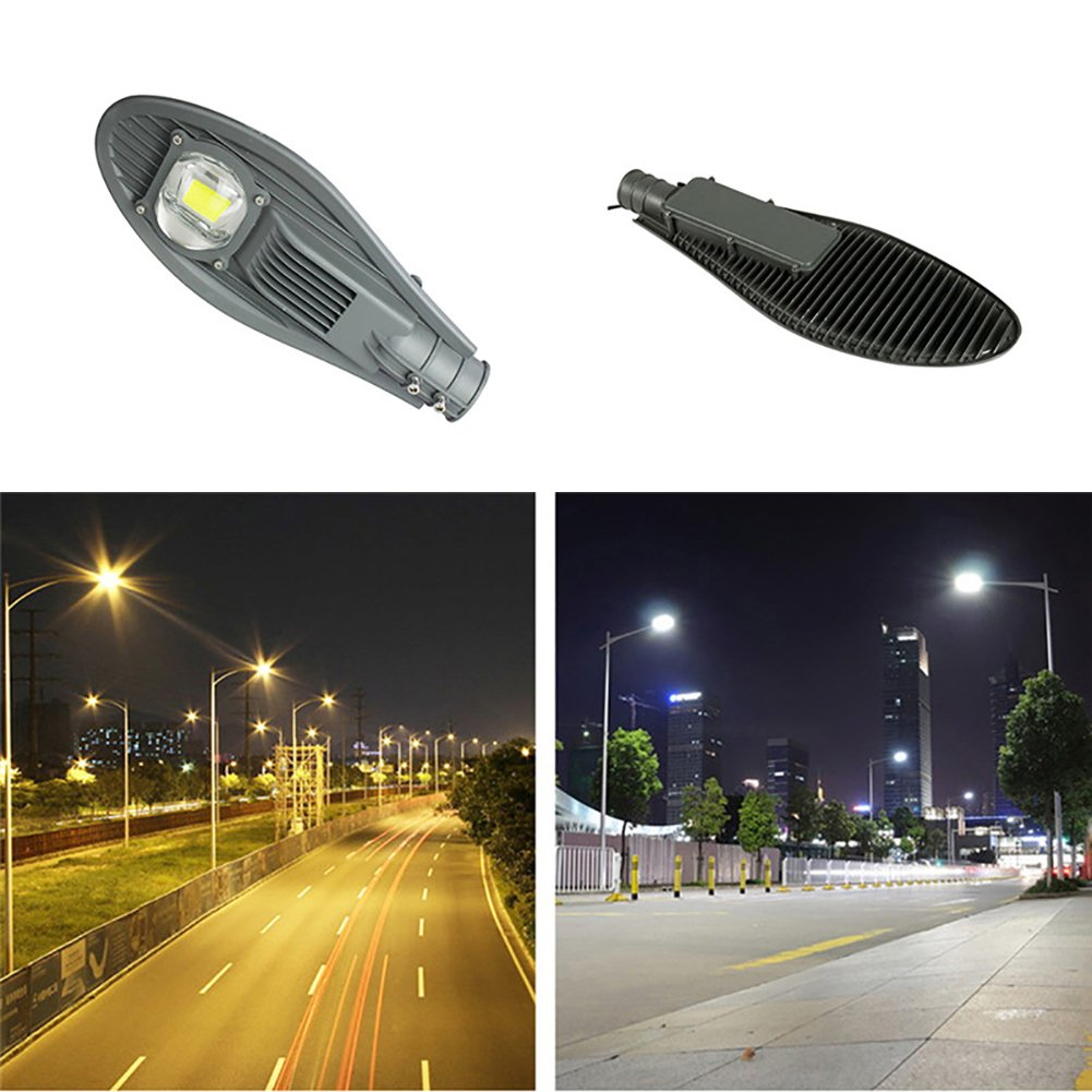 Sundlight Street Lighting, 50W LED Commercial Area Road Light,IP65 Waterproof AC85-265V Security Area Night Lighting for Outdoor Garden Yard Street Patio Path