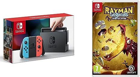 Nintendo Switch - Consola, color azul neón/rojo neón + Rayman Legends: Definitive Edition: Amazon.es: Videojuegos