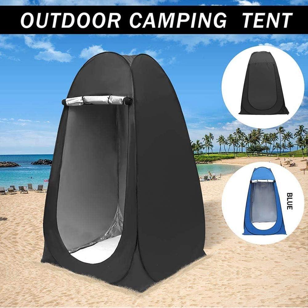 Refugio para Lluvia para Camping y Playa,Azul Inodoro para Campamento Tienda de Ducha port/átil al Aire Libre instant/ánea ZLRE Tienda de privacidad Plegable para Vestuario