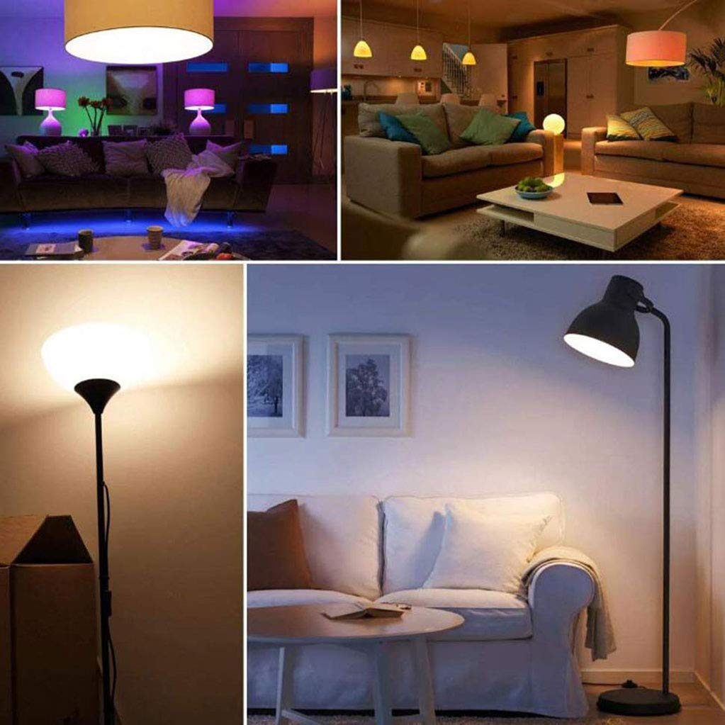 XUENUO Led Light Bulbs Color Changing 15W Remote Control Dimmable E27 16 Color Choices RGB and White Memory Function AC 85-265V for Home Party Bar,Packof20