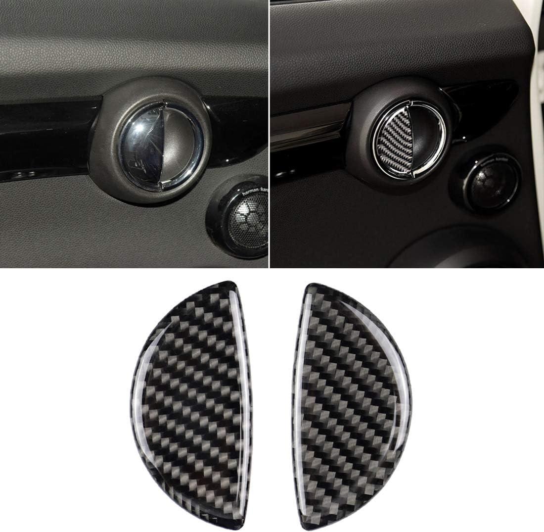 piezas de coc 2 PCS R//F manija de puerta de coche universal de fibra de carbono de la etiqueta engomada for BMW Mini R55 F54 F55 R61 Cubierta de fibra de carbono del ajuste R56 F60 R60