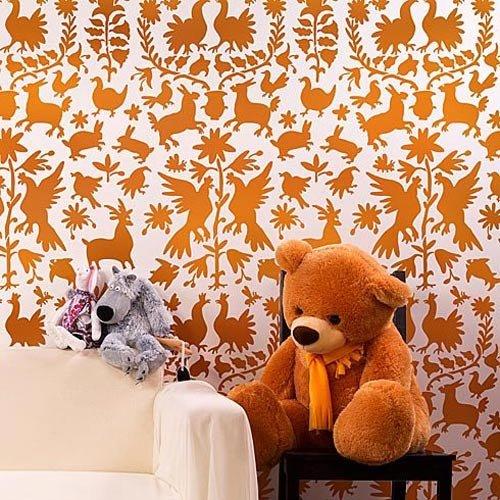 Otomi Stencil Pattern - Reusable stencils for DIY wall decor