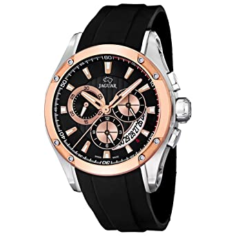 Amazon.com: Jaguar Special Edition Mens Analog Quartz Watch with Silicone Bracelet J689/1: Watches