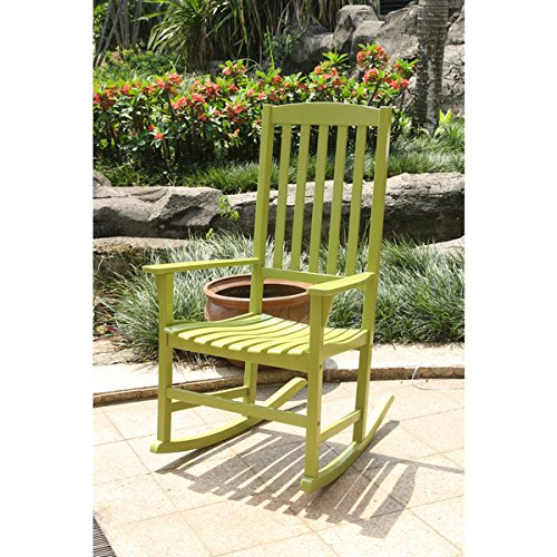 Alston Green Porch Rocker (27.25 in. L x 30.25 in. W x 44 in. H)