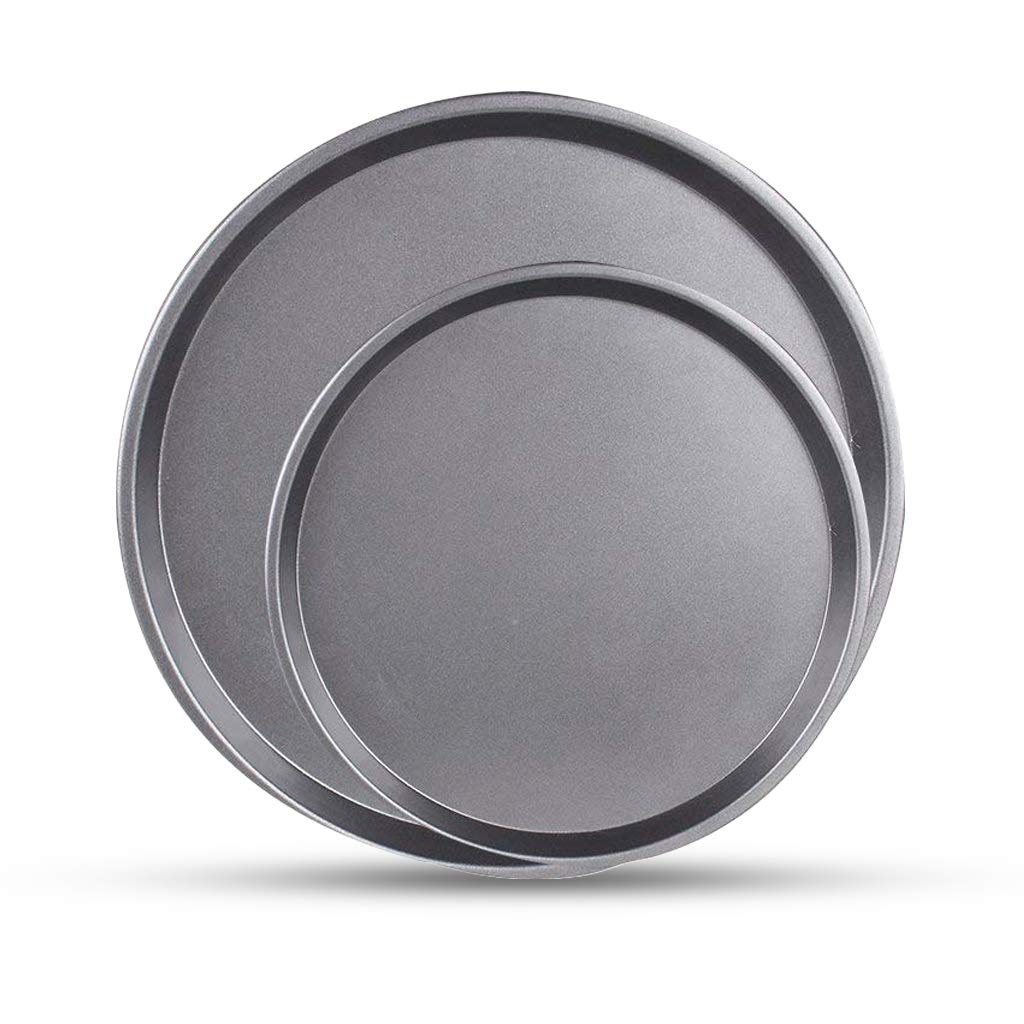 Ewinever 2-Pack Nonstick Pizza Pans,Bakeware Tray/plate,Carbon Steel,10 Inch/14 Inch