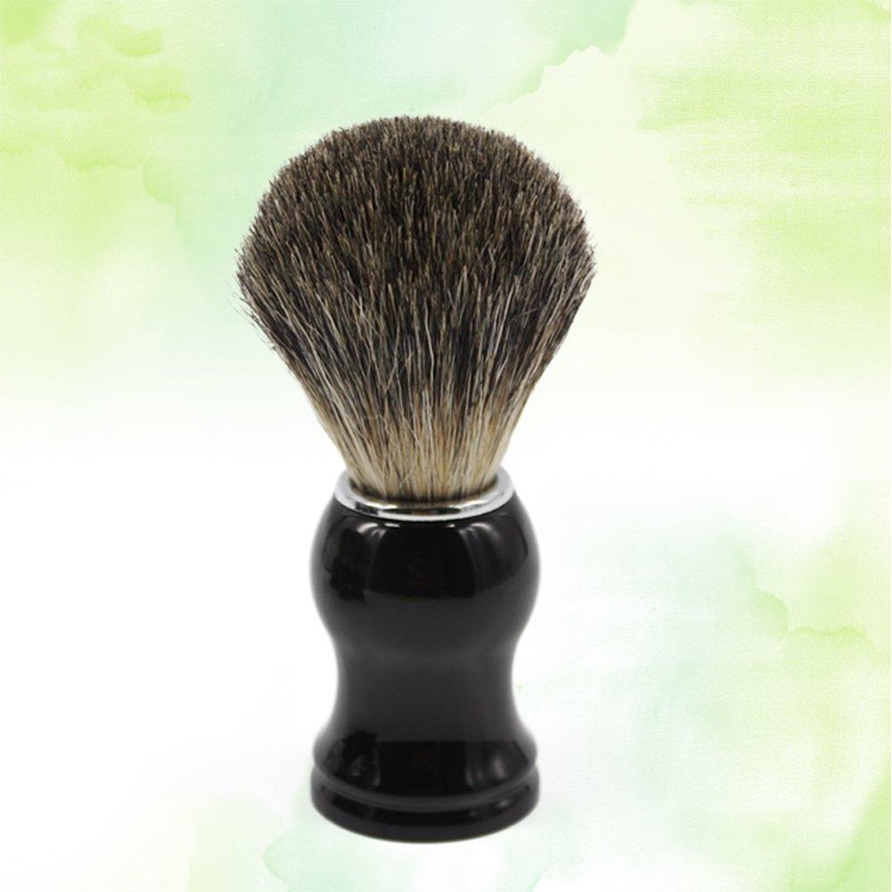 100/% Dachshaar Ploopy Dachshaar Rasierpinsel Ebenholzimitatgriff Pure Badger Rasierpinsel f/ür die perfekte Rasur 1 St/ück Schwarz