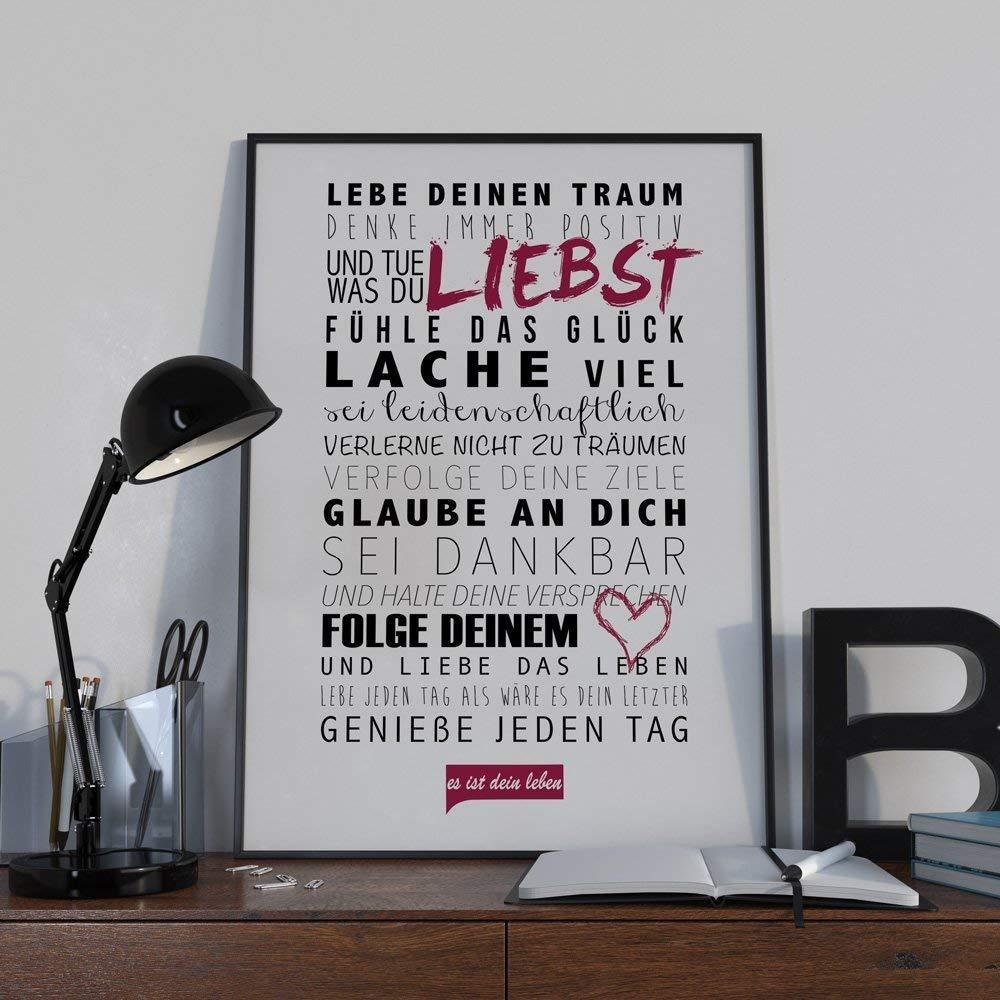 Poster LEBE DEINEN TRAUM  //// Kunstdruck Wandbild