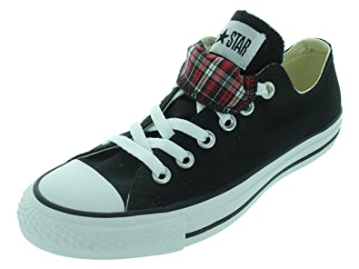 60a0251f72a8e5 Converse The Chuck Taylor All Star Double Tongue Plaid Sneaker in  Black