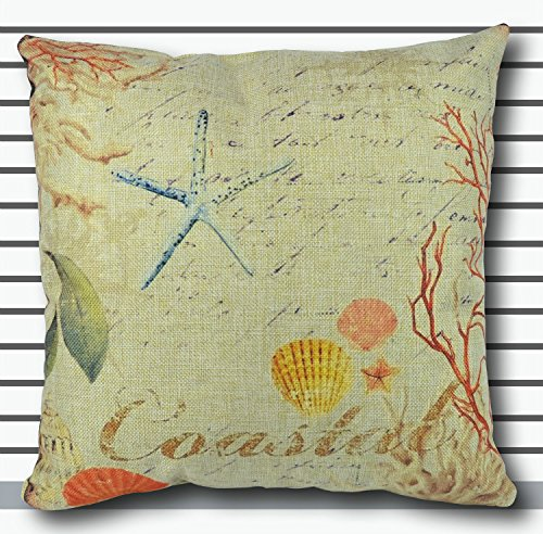 Decorbox Cotton Linen Decorative Throw Pillow Case Cushion C