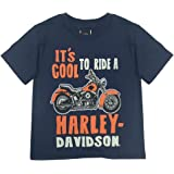Harley-Davidson Little Boys' Cool To Ride Short Sleeve Tee, Navy Blue 1570677