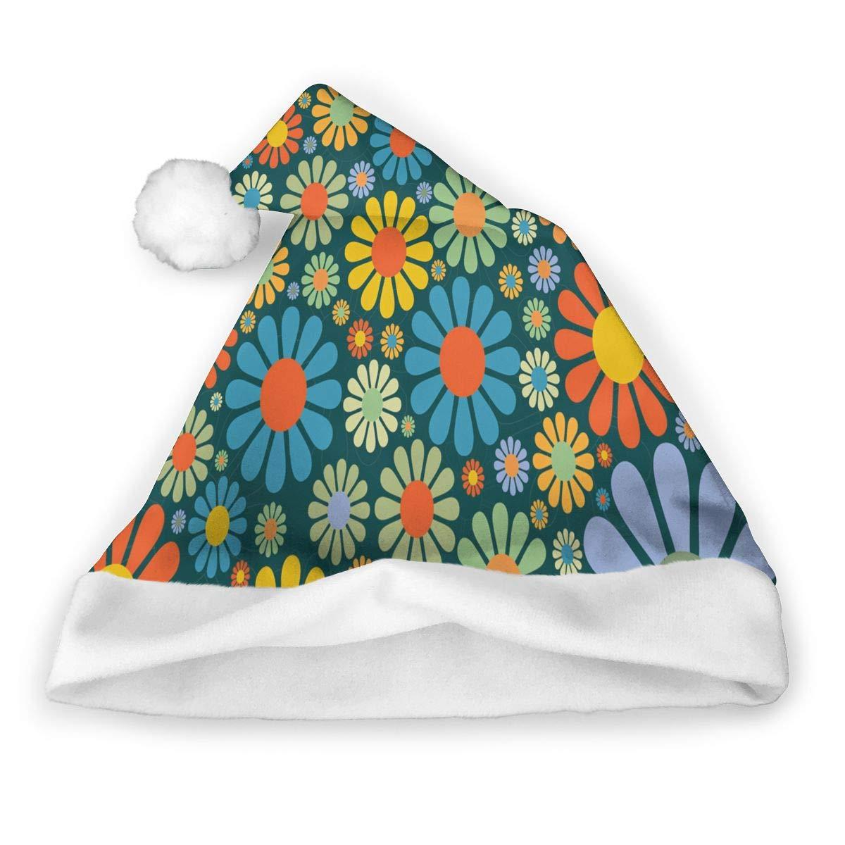 ZHOUSUN 2 PCS Decor Christmas Hat Flowers Grass Mushrooms Santa Xmas Cap Costume Decorations