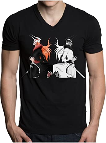 Ichigo Vasto Lord Bleach Anime manga T Shirt Black A471