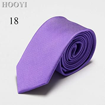 FDHFC Hombres Corbata Delgada Corbata Color Sólido Novedad Azul ...