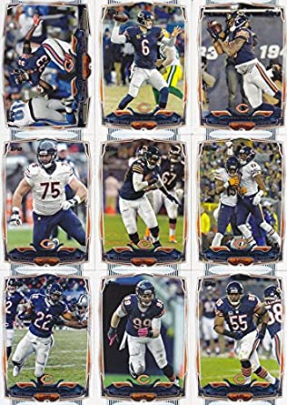 Amazon.com  Chicago Bears 2014 Topps NFL Football Complete Regular Issue 15  Card Team Set Including Jay Cutler 88f2fbe97