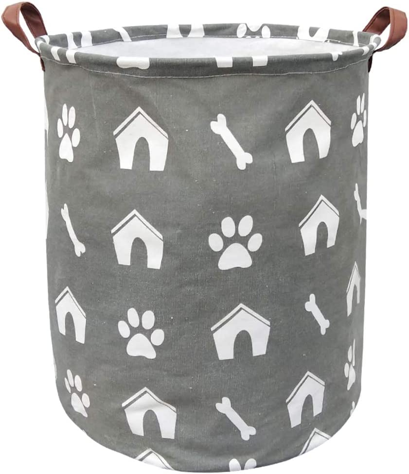 BOOHIT Storage Baskets,Canvas Fabric Laundry Hamper-Collapsible Storage Bin with Handles,Toy Organizer Bin for Kid's Room,Office,Nursery Hamper, Home Decor (Doghouse)