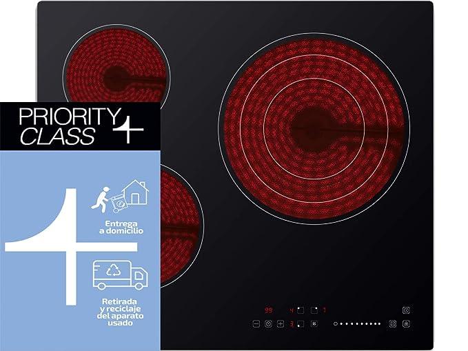 Sauber - Vitrocerámica SEV-01-3 zonas de cocción - Ancho ...