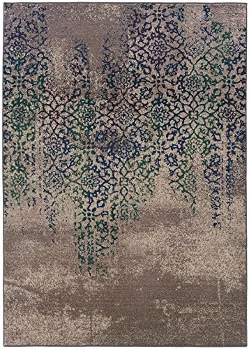Oriental Weavers 504D Kaleidoscope Area Rug, 9 9 x 12 2 , Grey Blue