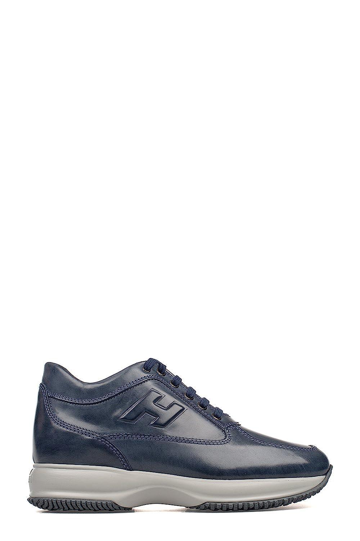 Hogan メンズ HXM00N090418A1U604 ブルー 革 運動靴 B07DQLNV59