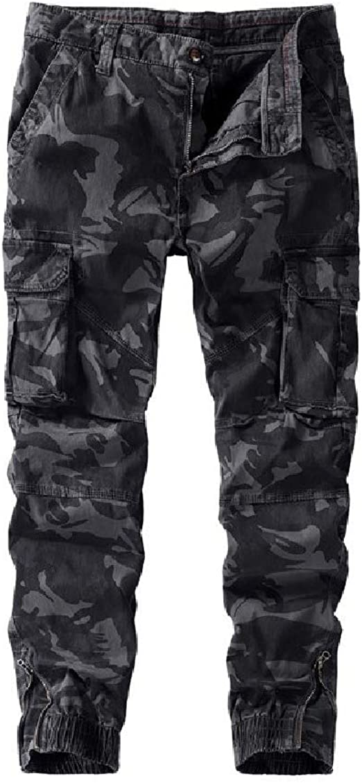 Beeatree Mens Multicam Rip Stop Trouser Big & Tall Washed Jersey Tank