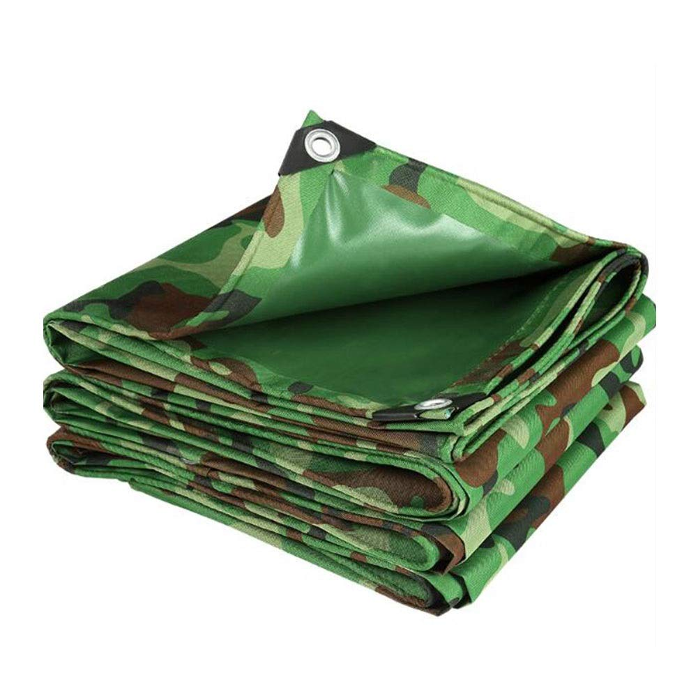 DALL ターポリン ヘビーデューティ 480g / m 2 防水 オックスフォード布 メタルグロメット 屋外ガーデン キャノピーカバー 多目的 (Color : 緑, Size : 5×6m) 緑 5×6m