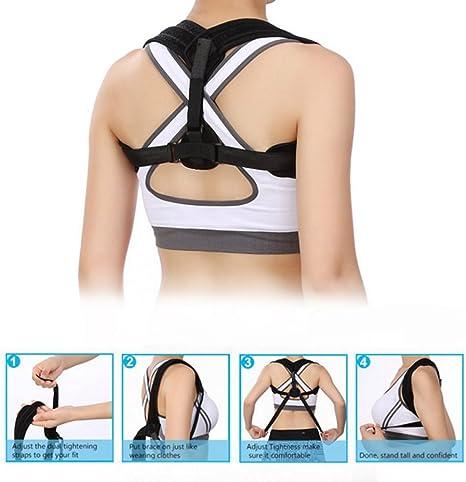 Back Correction Belt Set for Kyphosis L Hunchback or Slouched Shoulders Shoulder Posture Corrector Adjustable Back Support Brace for Men//Women