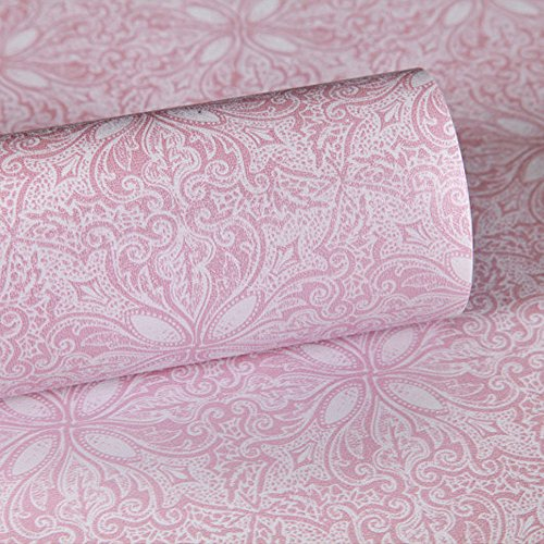 SimpleLife4U Purple Paisley Self Adhesive Shelf Drawer Liner PVC Wall Sticker 45x300cm Valentine's Day Gift (Contact Purple Decorative Paper)
