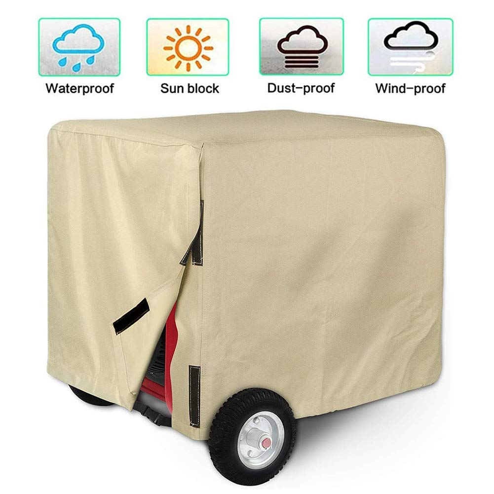 LXLA Generator Inverter Cover, Outdoor Universal Waterproof Anti-UV Machine Protection Cover, Suitable for Most Generators (Color : Beige, Size : 81cm×61cm×61cm) by LXLA - Patio furniture covers