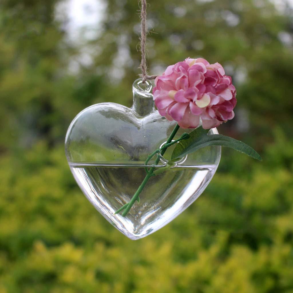 Gaddrt Creative Hanging Glass Vaso per fiori Terrarium Contenitore Home Garden Decor-regalo-buona decorazione-Alto vetro borosilicato