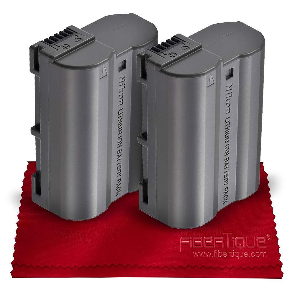 Nikon EN-EL15a Rechargeable Lithium-Ion Battery (Compatible w/Nikon D750, D7000, D7100, D7200, D7500, D800, D800E, D810, D810A, D850, D610, D500 and D500) + Fibertique Microfiber Cleaning Cloth by Nikon