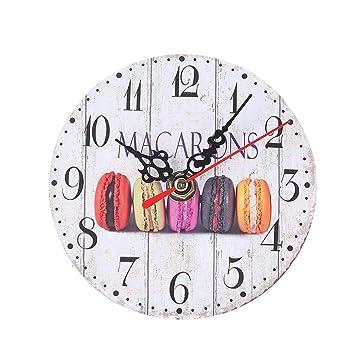 Reloj De Pared Europeo Retro Creativo Digital Dial Sala De Estar Reloj Reloj Reloj Mute Madera Colgante Bar Habitación Habitación Reloj De Pared Moda Retro ...