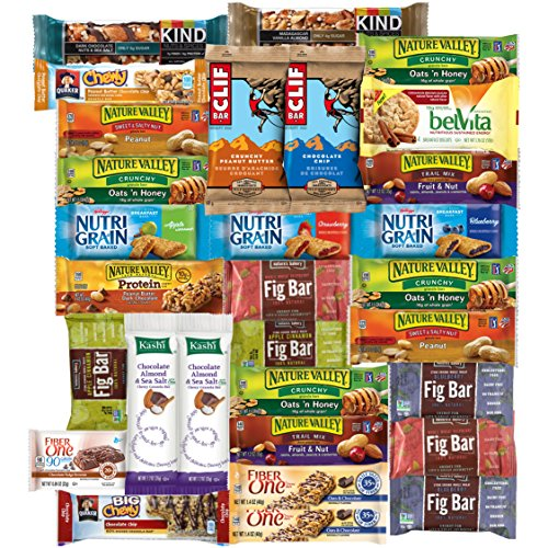 Healthy Bars & Snacks Bulk Variety Pack (Care Package 30 Count)