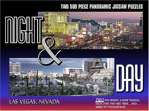 Las Vegas Panoramic Puzzle (Night & Day City Puzzle - Las Vegas)