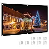 "Projector Screen, HENZIN 120"" Inches 16:9 Portable"
