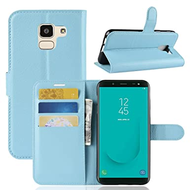 factory price 5e375 aaa46 SPAK Samsung Galaxy J6 2018 Case,Premium Leather Wallet Flip Cover ...