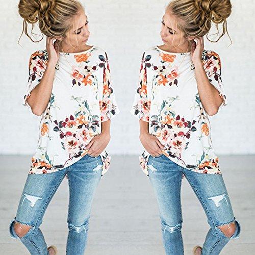 Iumer-Fashion-Women-Summer-Casual-Cotton-Blouse-Short-Sleeve-Shirt-T-shirt-Blouse-Top