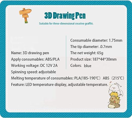 OoB Pluma Dibujo 3D Impresión 3D Conjunto de Lápiz Compatible con ...