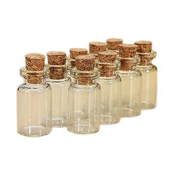 50 pcs claro vacío Mini pequeño 1 ml que deseen botellas de cristal Vial 1324 mm