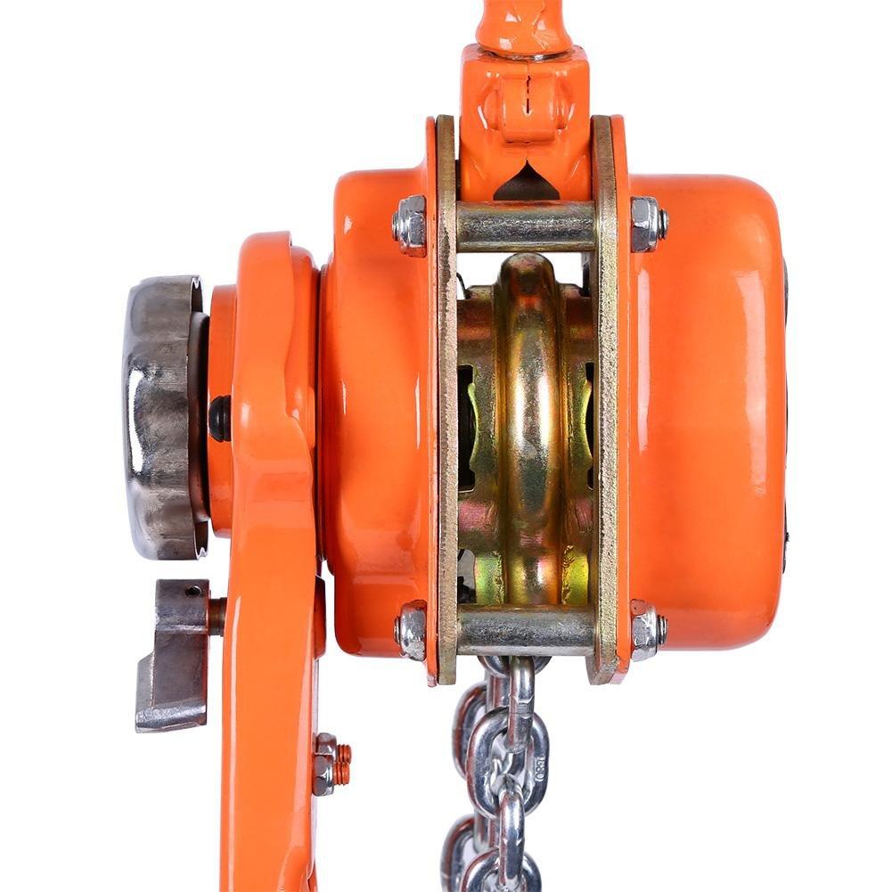Paranco a Catena Paranco Argano Manuale Doppio Cricco in Acciaio al Manganese Zincato G80 con 3M Catena Cricchetto