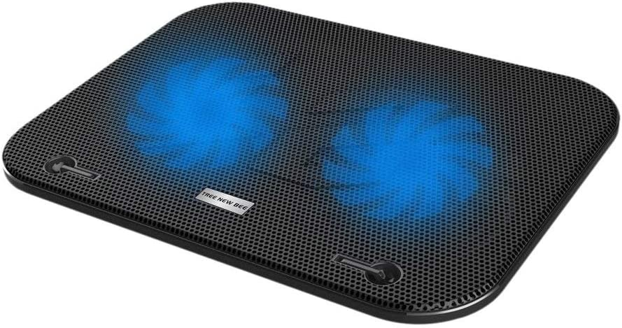 "Tree New Bee TNB-F003 Laptop Cooling Pad - Fits up to 15.6"" & Smaller laptops & notebooks - Strong & Durable ABS & Metal Mesh - Fits Easily on Your Lap or Any Flat Surface - Keeps Your Laptop Cool"