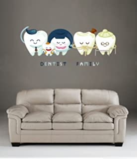 Wall Decals Tooth Vinyl Sticker Dental Decal Smiling Tooth Dental - Window decals for dental office
