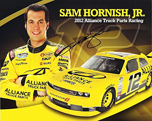 - AUTOGRAPHED 2012 Sam Hornish Jr. #12 Alliance Truck Parts Racing (Team Penske) Dodge Challenger Nationwide Series Driver Signed Picture 8X10 Inch NASCAR Hero Card Photo with COA