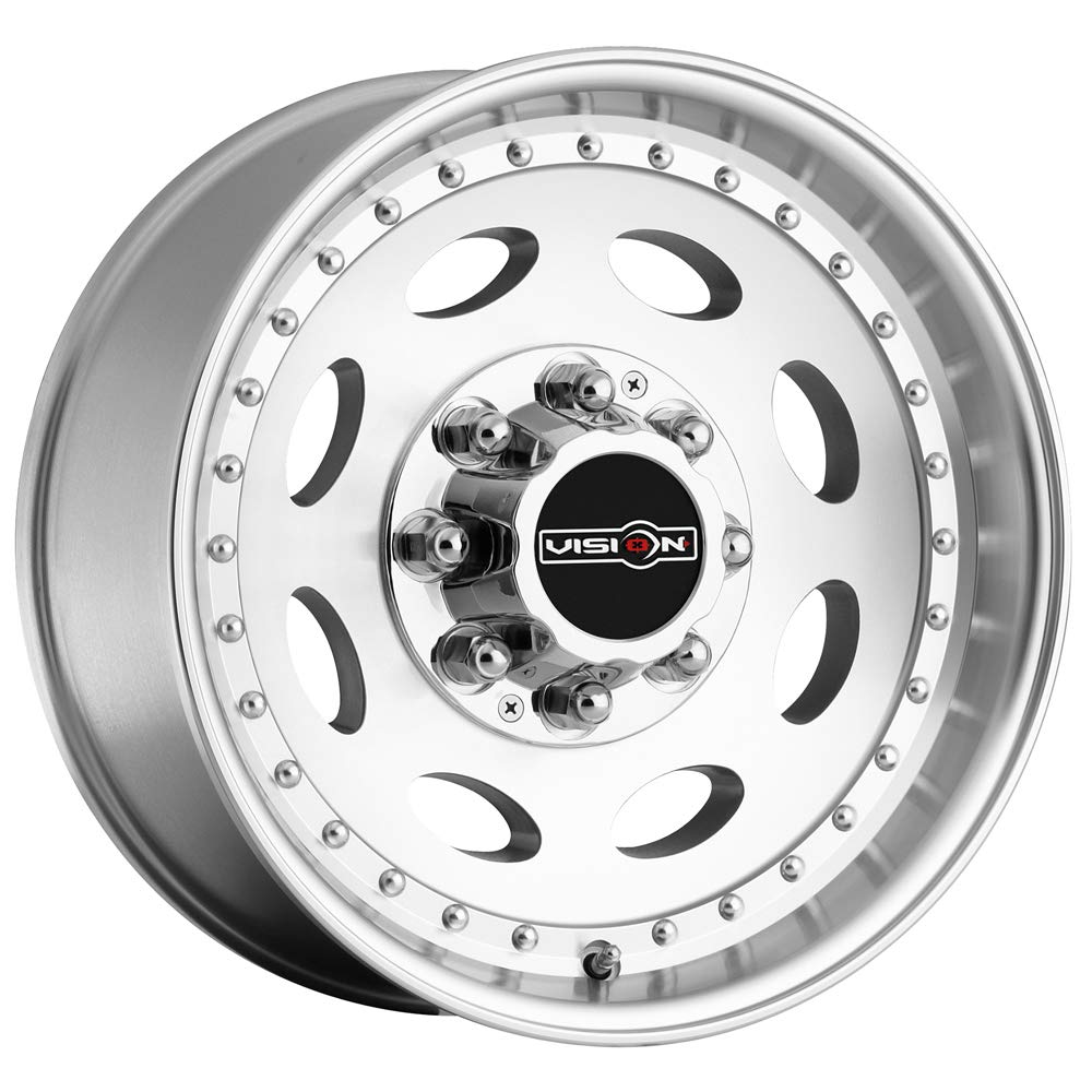 19.5x7.5//8x6.5 Vision Heavy Hauler 81 Series Machined Clear Coat Wheel